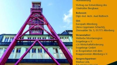 """Vortrag: """"Der Silberbergbau von Glashütte – Geschichte und Dokumentation"""""""